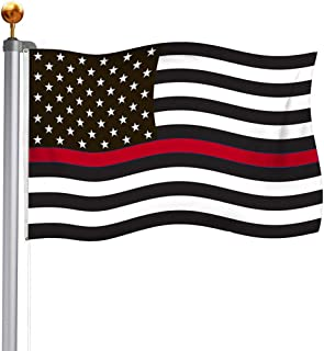 Best TOPFLAGS Thin Red Line Firefighters Flag 3X5 Outdoor- American Redline Fire Red Line Flags- Red Lives Matter Banner with Brass Grommets Review