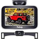 Yakry Y12 1920P HD Backup Camera with 5 Inch Monitor Kit for Car Truck Camper IP69 Waterproof 5 LED Night Vision DIY Easy Installation Super Color Night Vision The Latest Technology 2021