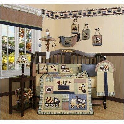 Fantastic Deal! GEENNY Boutique 13 Piece Crib Bedding Set, Baby Boy Constructor