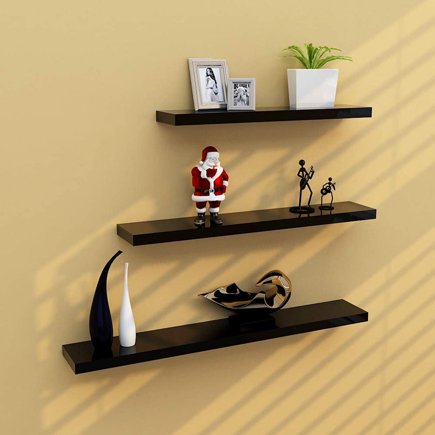 Xiaomei,Shelves Creative Word Partition TV Background Wall Decoration Wall Shelf