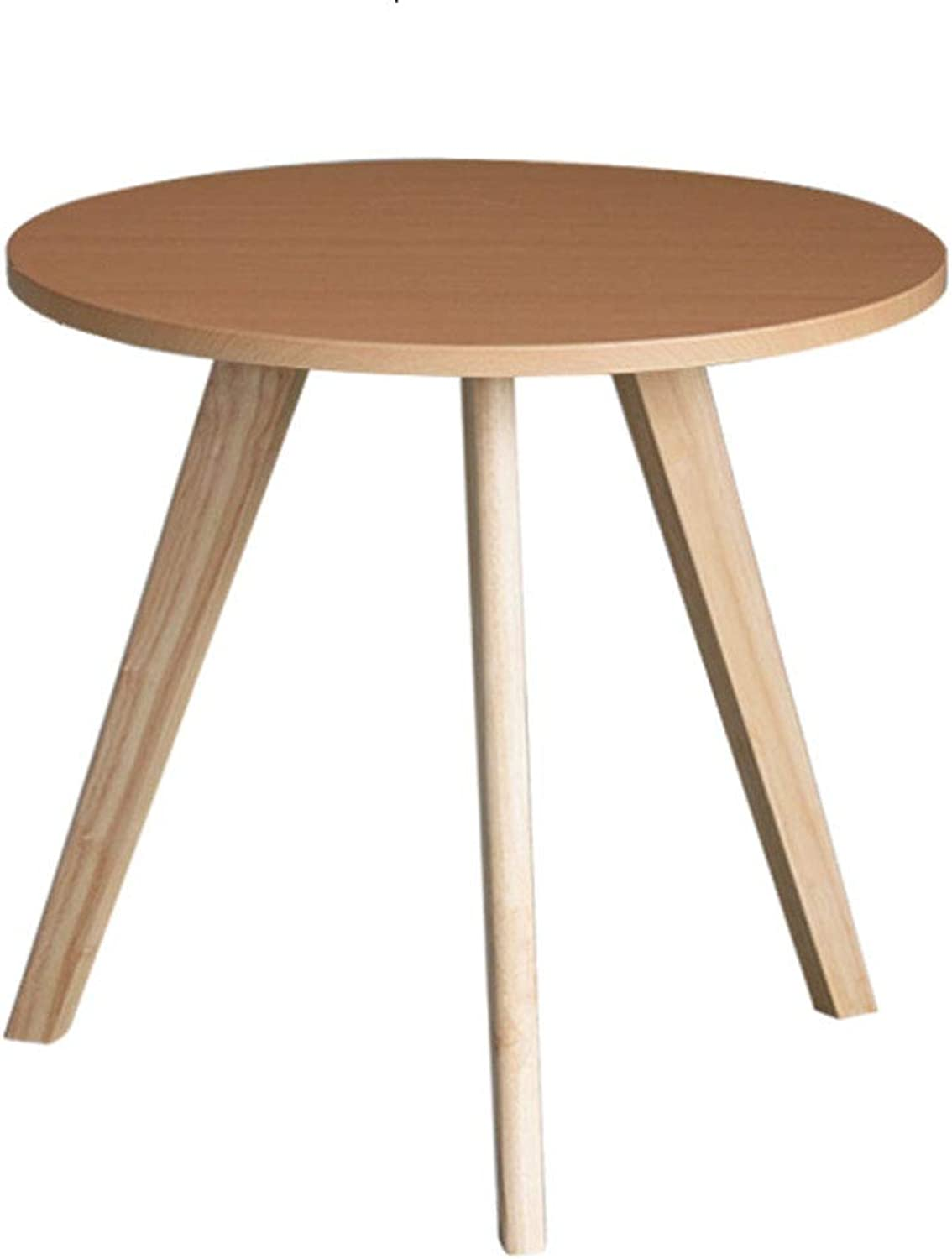GWDJ Side Table, Solid Wood Round Stable Side Table Mini Practical Sofa Side Cabinet Bedside Table Corner Space-Saving Small Coffee Table Corner Table (color   A, Size   40  45CM)
