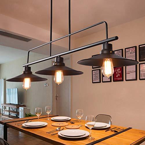 YMLSD Candelabros, Retro Industrial Wind Chandelier Restaurante Lámpara Billar Barra de Mesa Creativa 3 Candelabros