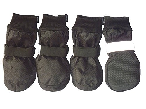 LONSUNEER Paw Protector Dog Boots Waterproof Soft Sole and Nonslip Set of 4 Size XL