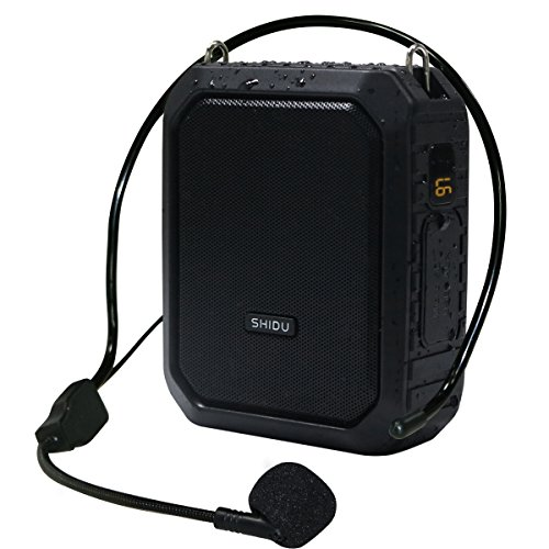 Bluetooth Voice Amplifier Speaker with Portable Microphone Headset, 18W Wired Mic and Speaker Mini Amp Waterproof Personal Voice Saver Rechargeable Loudspeaker for Teachers, Classroom, Elderly