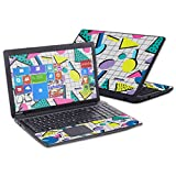 MightySkins Skin Compatible with Toshiba Satellite C50 C55 C55T C55D 15.6' wrap Cover Sticker Skins Awesome 80s