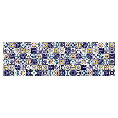 jieGorge 60x200cm Autoadhesivo azulejo Piso Pared calcomanía Pegatina DIY Cocina baño decoración, decoración del hogar, para el día de Pascua (Multicolor)