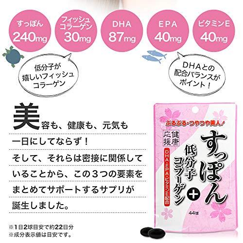 ユウキ製薬 すっぽん&低分子コラーゲン スタンドパック 44粒