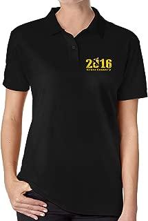 Women 2016 Cross Country Running Short-sleeve Polo Shirts