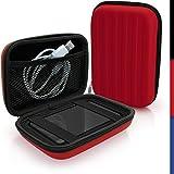 iGadgitz Red EVA Hard Travel Case Cover for Portable