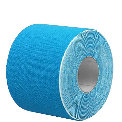 ULTNICE Nastro terapeutico adesivo per spalle ginocchia muscolare 500 x 2,5 cm (Azzurro)