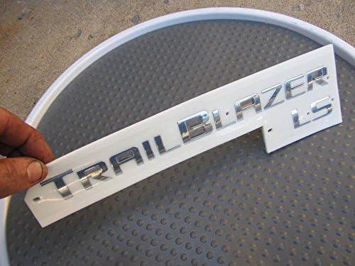 new arrival 2002-2009 Chevy Trailblazer online LS discount OEM Chrome Nameplate Sign Rear Liftgate Emblem Logo sale