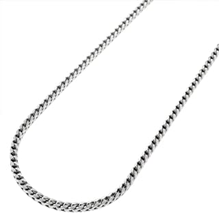 Verona Jewelers Sterling Silver 1.5MM and 2MM Solid Franco Square Box Link 925 Rhodium Necklace Chain 16-24 Inches