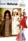 BUTTERICK OOP Costume Pattern B4887 or 4887. Little Girls Szs 2,3,4,5 Historical & Masquerade Costumes
