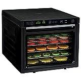 Rosewill – Máquina deshidratadora de alimentos, 6 bandejas deshidratantes para hacer jersey de carne de vaca, aperitivos saludables secos, deshidratador eléctrico con dos ventiladores de secado rápido – RHFD-18001