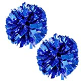 PUZINE 2pack 12' Cheerleading Pom Poms with New Handle for Team Spirit Sports Dance Cheering Kids Adults
