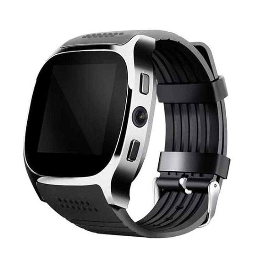 Smart Watch,Bluetooth Smartwatch Touch Screen Wulidasheng,Waterproof Sports Exercise Bluetooth Camera Pedometer Wristband Smart Watch Gift - Black