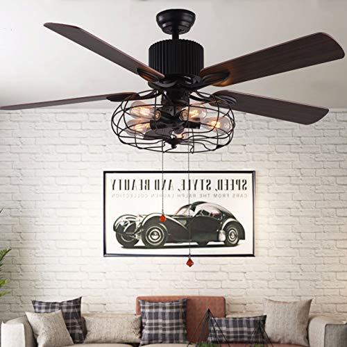 Bella Depot 52 Inch Vintage Modern Industrial Ceiling Fan Light