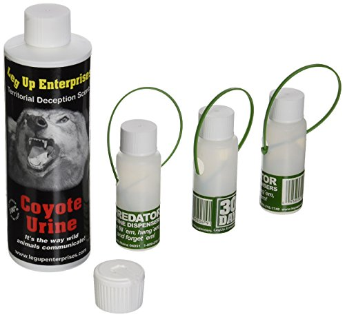 Leg Up Coyote Urine with 3 30 Day Dispensers, 8-Ounce - 91206