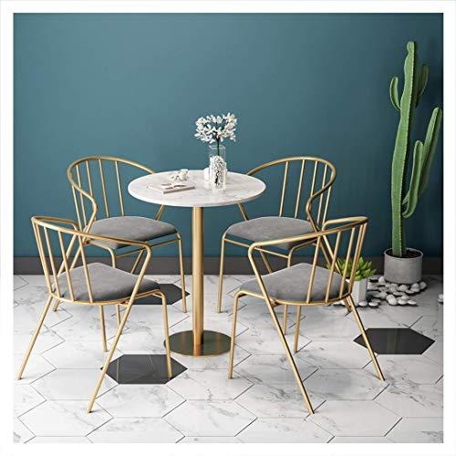 KMMK Schreibtisch Stühle, On-Trend Küche Und Frühstück Dining Chairs Set Von 5 Barhocker Esszimmern Kaffeemaschine Sessel Marble Desktop-Polster Großer Sitz 45 cm (17,71
