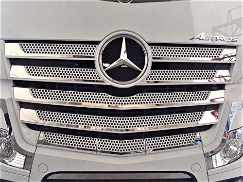 24//7Auto 19 Pezzi in Acciaio Inox griglia Anteriore Trim Covers per Nuovo DAF XF 106 Camion Decorazione Lucida a Specchio