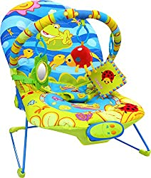 Suitable from birth, 3 recline positions, three position backrest, calming vibrations and music Baby will enjoy the soft plush toy, sea life cloth book or even look him/her self into the safety mirror Removable, washable padded soft seat fabric Choos...