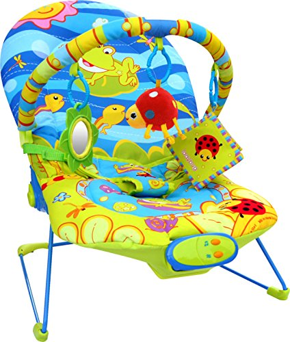 Bebe Style Ocean World Baby Recline Bouncer with Vibration and Music and 3...