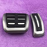 TTMMMKP Acelerador freno pie resto en refit placa inoxidable auto accesorio RHD modificado coche pedal pad para Audi A5 A4 B8 8K Q5 8R