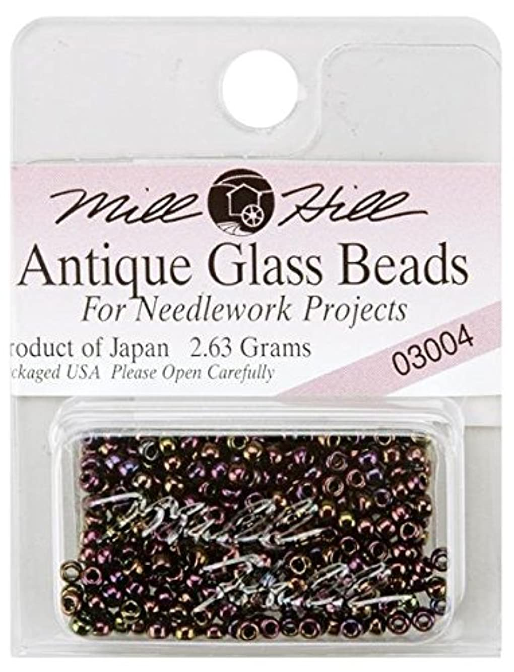 Mill Hill Antique Glass Seed Beads 2.5mm 2.63g, Eggplant