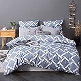 AYA 10 Styles Sets de Housse de Couettes 220x240cm + 2taies d'oreillers 65x65cm Parure de lit pour 2 Personnes Motif1
