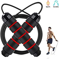 IGC Jump Rope Workout Tangle-Free Rapid Speed Cable Skipping Rope with Ball Bearings