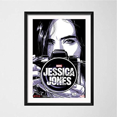 Pintura sobre Lienzo Jessica Jones Season 3 Hot TV Series Art Poster Wall Home Decor 40 × 60Cm Sin Marco