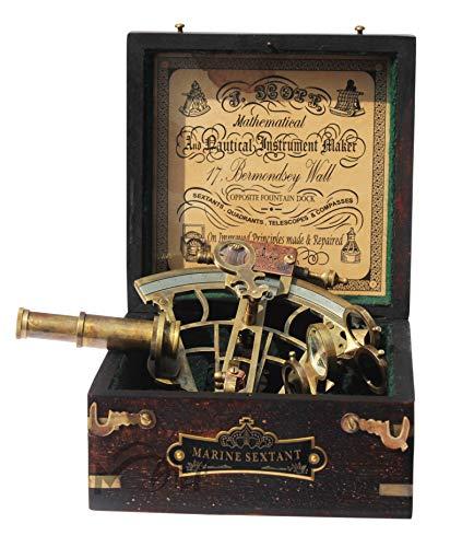 MAH Brass Ship History Sextant