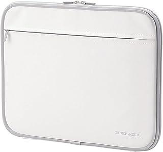 エレコム パソコンケース 13.3インチ (macbook pro 13) 衝撃吸収 ZEROSHOCK 収納ポケット付 ホワイト ZSB-IBN13WH