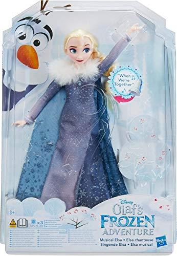 Hasbro Disney Die Eiskönigin C2539100 - Olaf taut auf Singende Elsa, Puppe