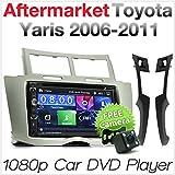 tunez 7 'Inch Dash Video Doppio Din Car DVD CD MP3 Player Radio stereo USB per Aftermarket Toyota Yaris (2nd Generation, XP90) Anno 2006 - 2011 Unità principale