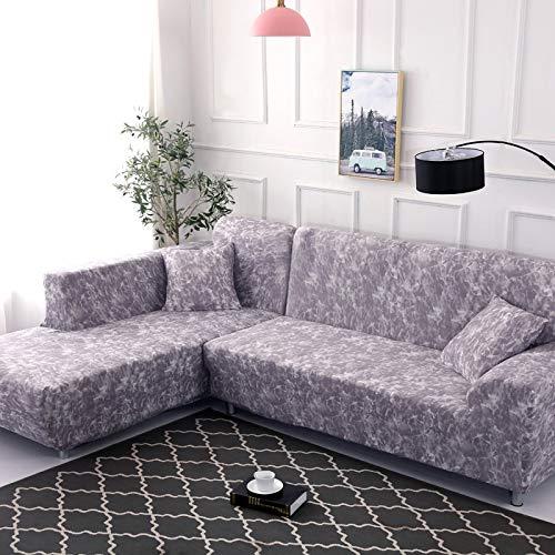 Funda de sofá elástica con Envoltura geométrica Funda de sofá de Dibujos Animados Floral Funda de sofá en Forma de L Esquina a Prueba de Polvo Funda de sofá A16 3 plazas