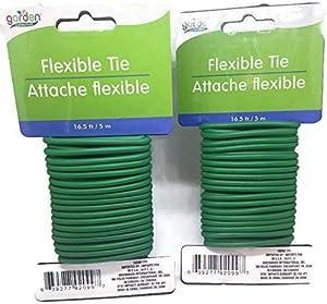 Garden Collection 16.6 ft Flexible Tie Attache Flexible - 2 Pack