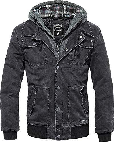Brandit Dayton Jacke Charcoal-grau, incl. herausnehmbarem Sweateinsatz, Größe L-