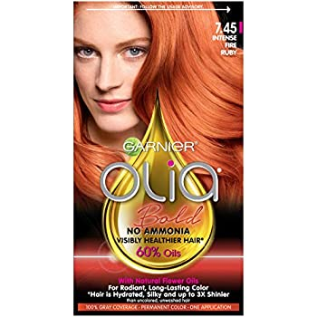 Garnier Hair Color Olia Oil Powered Permanent Hair Color 7.45 Intense Fire Ruby