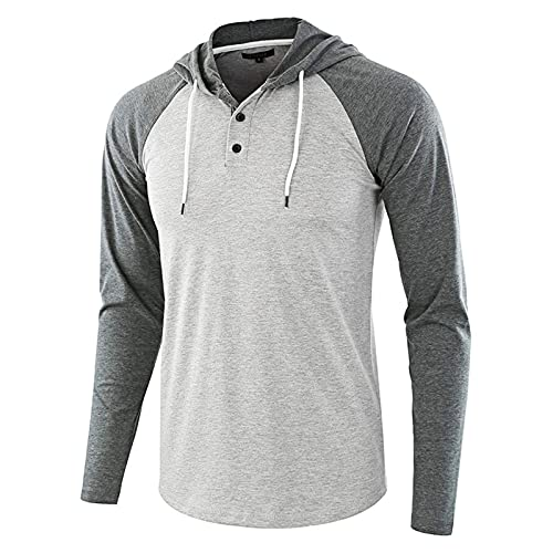 Camisetas de correr para hombres Tops corrientes de los hombres, tops de manga larga ligera y liviana de los hombres camisetas de la sudadera con capucha