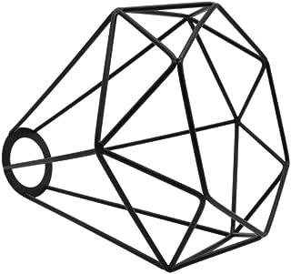 Pantalla de la Lámpara, Lámpara de Araña Pantalla de Jaula de Forma de Diamante Vintage Pantalla de Lámpara de Metal Industrial Retro Jaula de Pájaro Soporte de Lámpara de Luz de Pera
