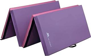 Sponsored Ad - M HI-Mat Gymnastics Mat,Folding Exercise Mat, Thick Home Aerobics Mat, Yoga Mat, Fitness Mat with Handle