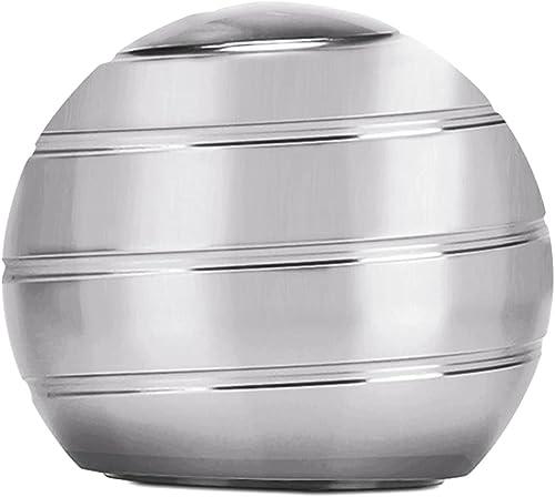 CaLeQi Bureau Cinétique Jouet Bureau Spinner Ball en Métal Gyroscope avec Illusion Optique pour Soulager Le Stress In...