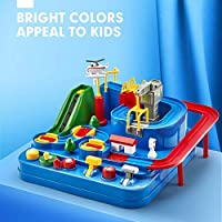 CubicFun Pista Macchinine Giochi Bambini 3 4 5 Anni Set di Giocattoli per Pista da Corsa, Elicottero e 3 Auto Giocattoli Educativo per Bambini Regalo #6
