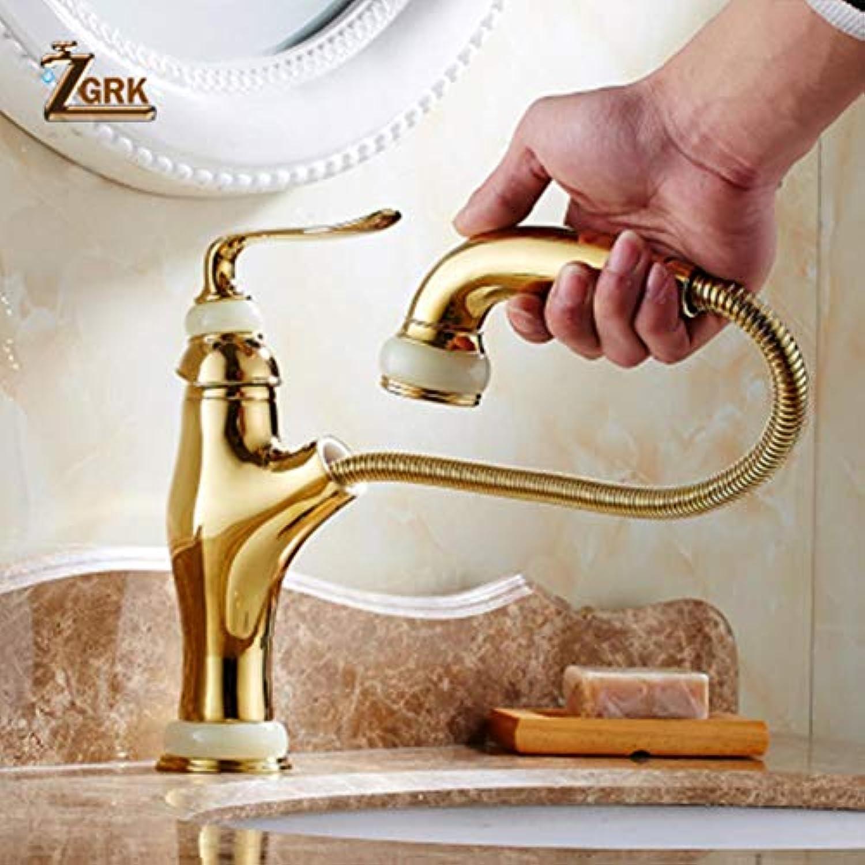 ZGRK Vintage Antique Messing Rotary Einstufige Einlochmontage Kitchen Sink Mischbatterie Waschbecken Mischbatterien Badmbel A-214