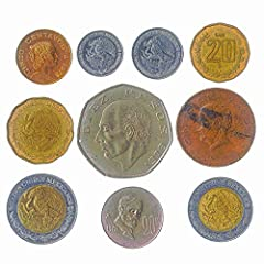 A LIMITED EDITION. 10 RANDOMLY PICKED COINS FROM UNITED MEXICAN STATES. You will receive 10 collectible coins bag picked randomly since 1970 from Mexico. You may receive Mexico coins lot from 5 centavos to 2 pesos. We try to pick as many different co...