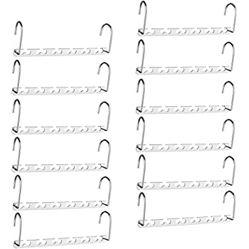 HOUSE DAY Magic Hangers Space Saving Hangers for Clothes Hangers Space Saving Wardrobe Clothing Hanger Oragnizer Closet Space Saver Hangers (12 Pack)