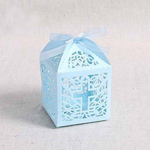 Musuntas 50Tlg.Vogelkäfig-Entwurf Hochzeit Taufe Gastgeschenk Geschenkbox Kartonage Schachtel Tischdeko Bonboniere Box Hochzeit Dekoration Baby Shower Bonboniere Box(style 2)