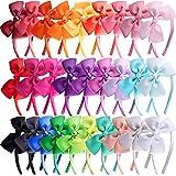 SIQUK 28 Piezas Diademas Lazo Diademas de Cinta Pelo para Niña, 28 Colores