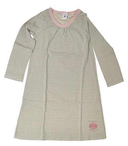 Petit Bateau Nachthemd 61819 Altrosa-lindgrün gestreift Gr. 4A - 104